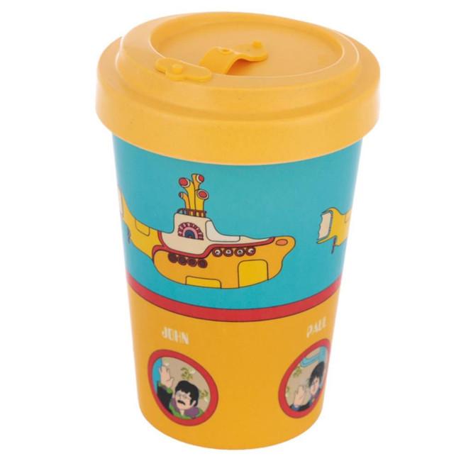 Yellow Submarine Screw Top Bamboo Composite Travel Mug