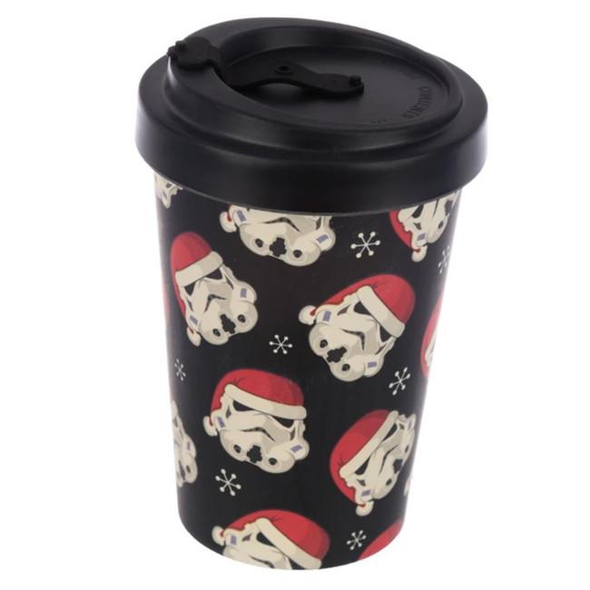 The Original Stormtrooper Christmas Reusable Screw Top Bamboo Composite Travel Mug