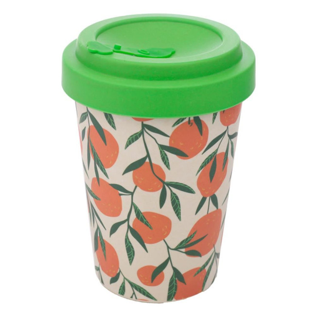 Oranges Reusable Screw Top Bamboo Composite Travel Mug