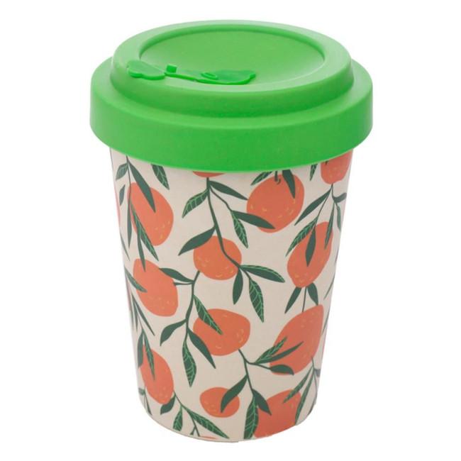 Oranges Reusable Screw Top Bamboo Composite Travel Mug