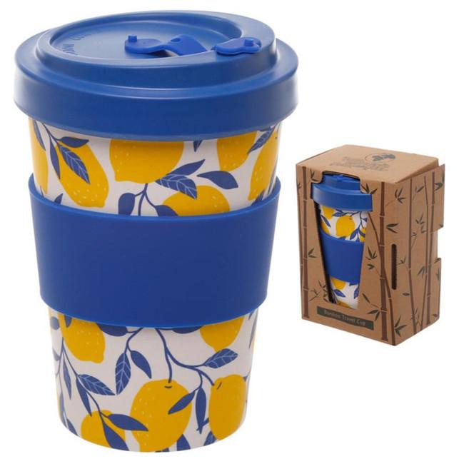Amalfi Lemon Reusable Screw Top Bamboo Composite Travel Mug