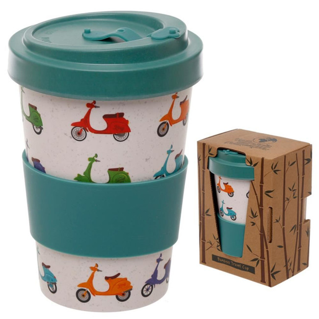 Speed King Scooter Reusable Screw Top Bamboo Composite Travel Mug