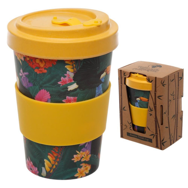 Toucan Party Reusable Screw Top Bamboo Composite Travel Mug