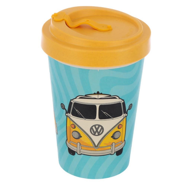 Volkswagen VW T1 Camper Bus Surf Adventure Begins Screw Top Bamboo Composite Travel Mug