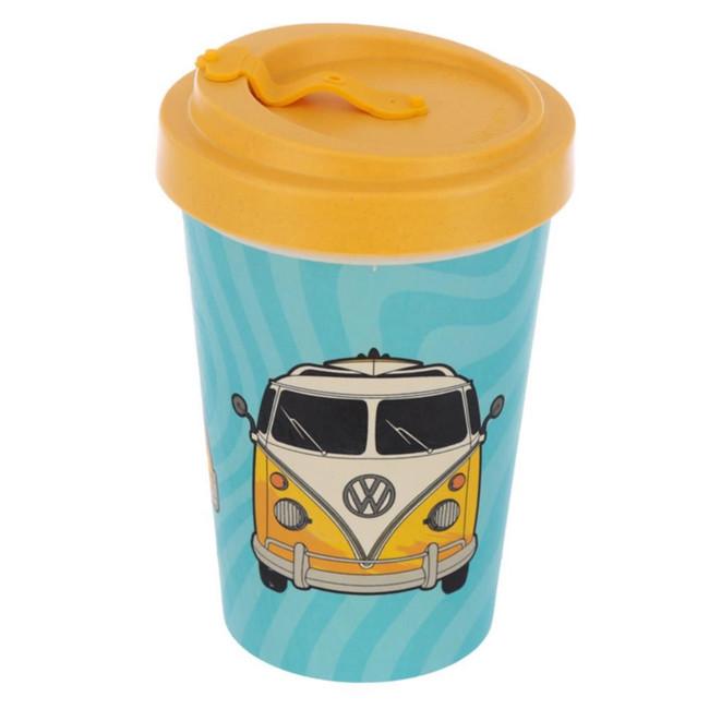Volkswagen VW T1 Camper Bus Surf Adventure Begins Screw Top Bamboo Composite Travel Mug