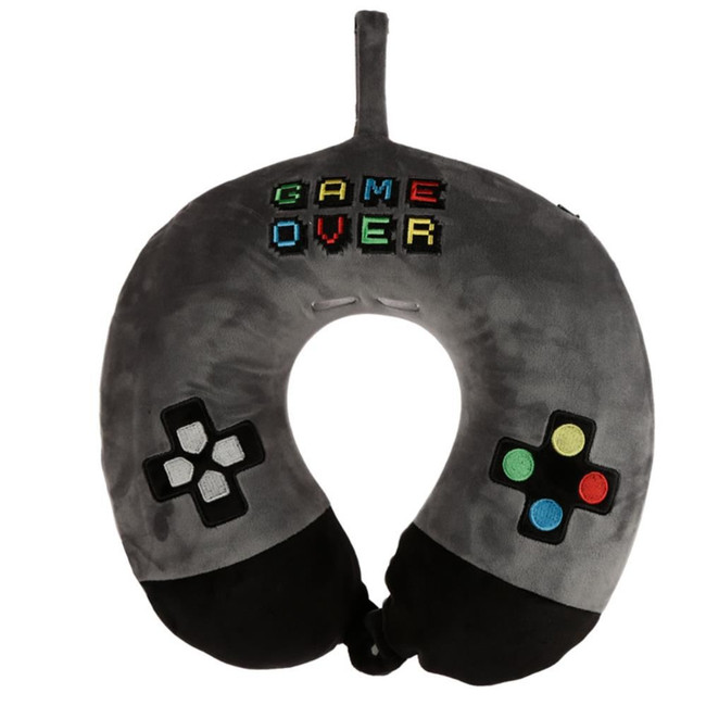 Relaxeazzz Game Over Plush Memory Foam Travel Pillow