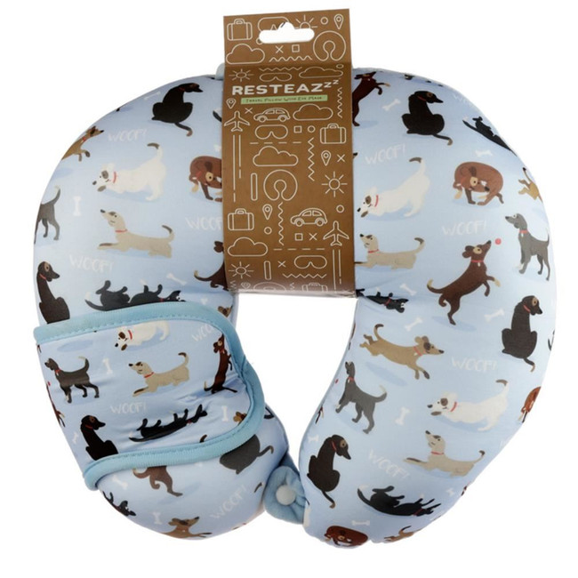 Relaxeazzz Catch Patch Dog Travel Pillow & Eye Mask Set