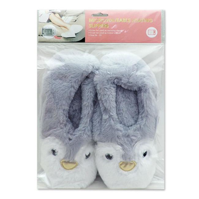 Penguin Heat Pack Toesties Warmer Slippers (One Size)