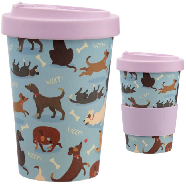 Catch Patch Dog Reusable Screw Top Bamboo Composite Travel Mug