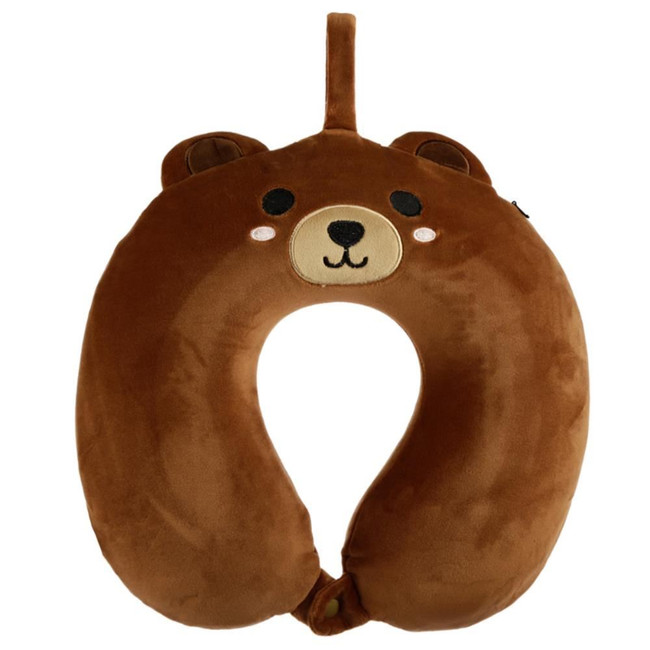 Relaxeazzz Cutiemals Bear Plush Memory Foam Travel Pillow