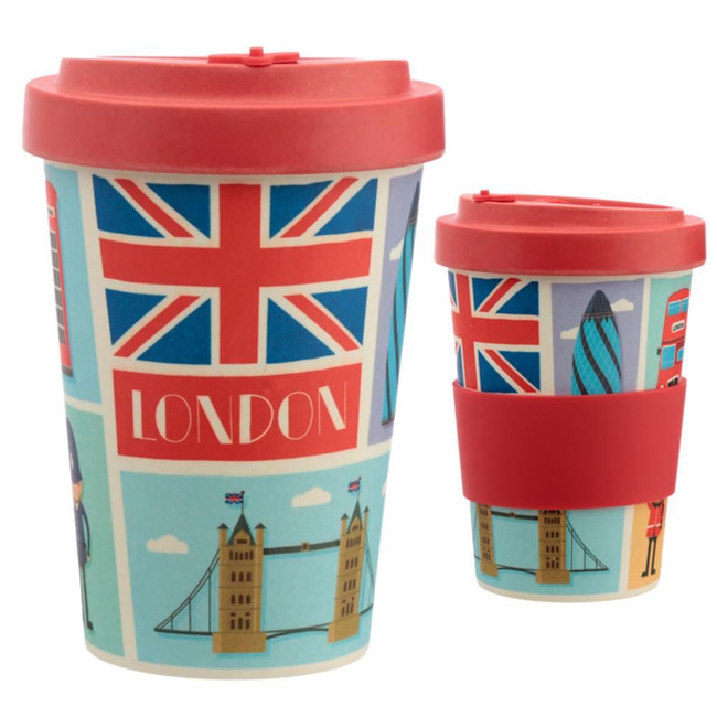 London Reusable Screw Top Bamboo Composite Travel Mug