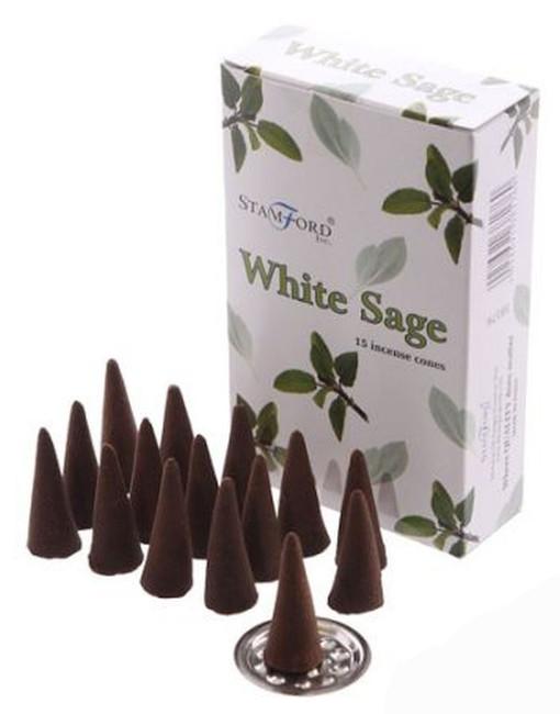 37176 Stamford Incense Cones - White Sage