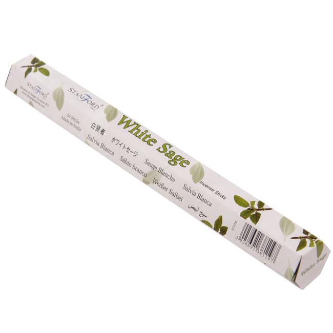 37119 Stamford Premium Hex Range Incense Sticks - White Sage