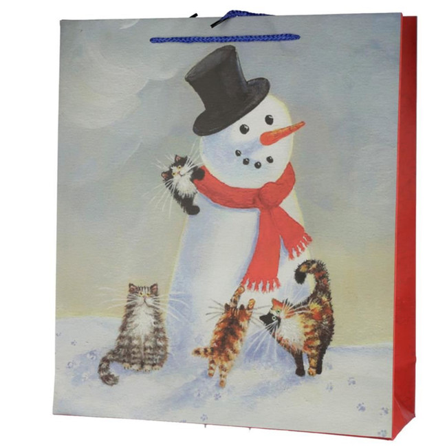 Christmas 2020 Kim Haskins Cat Gift Bag - Extra Large