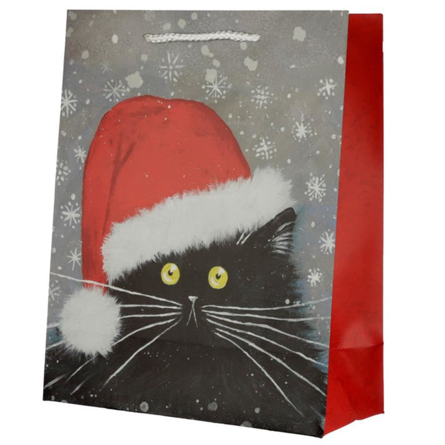 Christmas 2020 Kim Haskins Cat Gift Bag - Large
