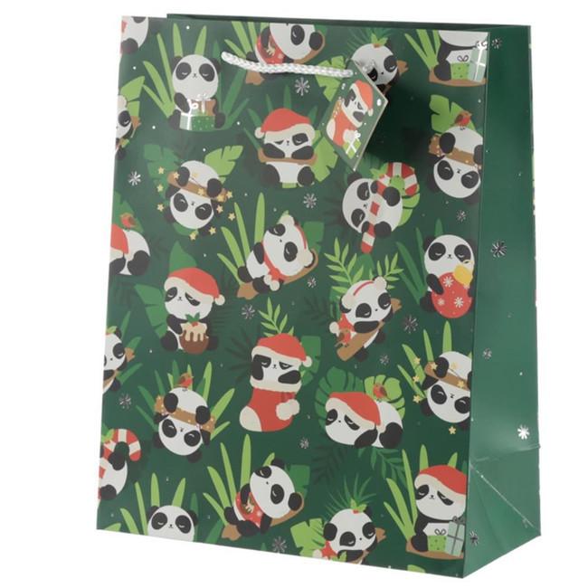 Christmas Panda Gift Bag - Large