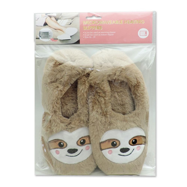 Sloth Heat Pack Toesties Warmer Slippers (One Size)