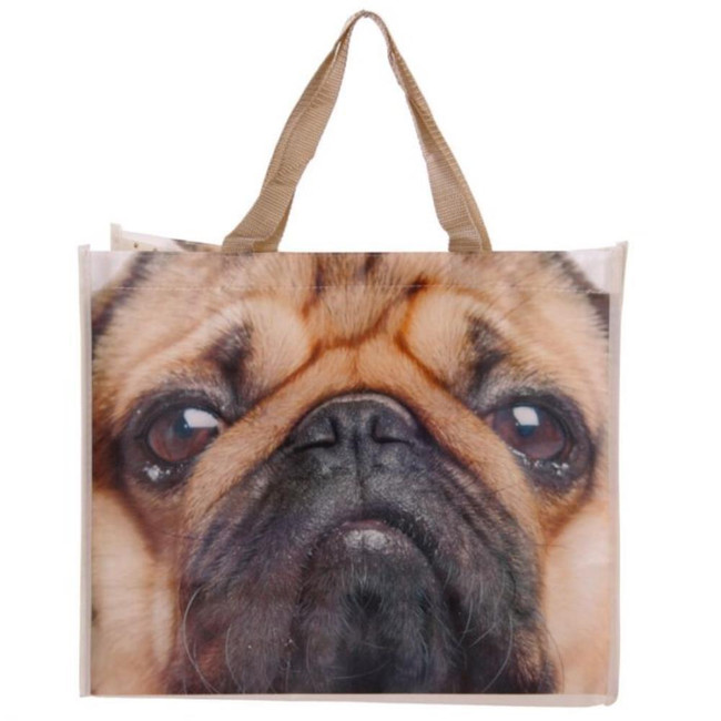 Cute Pug Design Shopping Bag