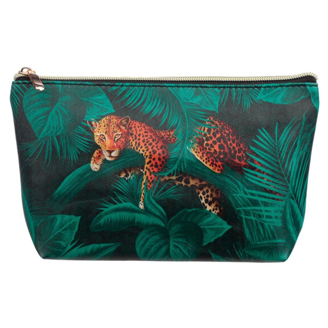 Wild Life Animal Print Medium PVC Wash Bag