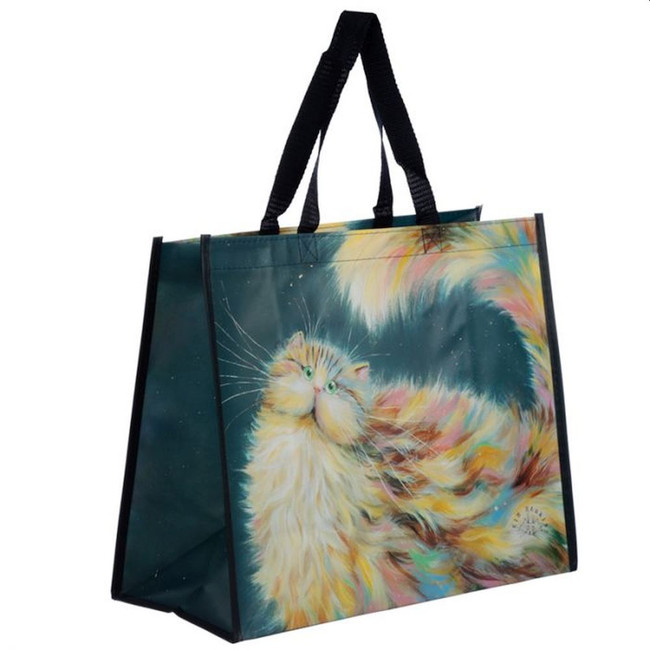 Kim Haskins Rainbow Cat Shopping Bag