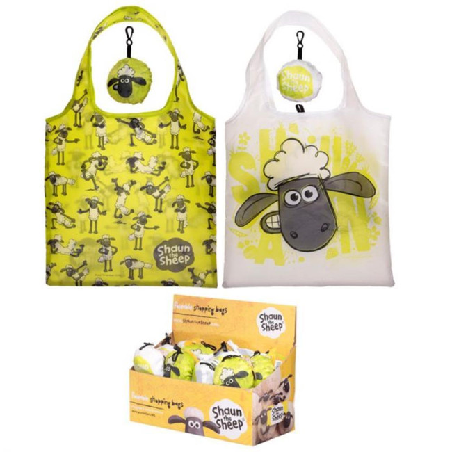 Foldable Reusable Shopping Bag - Aardman Shaun The Sheep