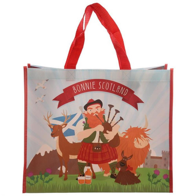 Bonnie Scotland Scottish Piper Shopping Bag