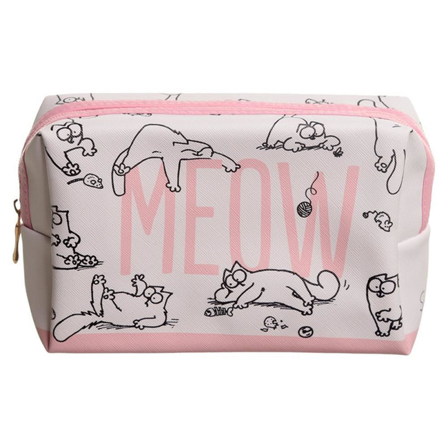 Simon's Cat Slogan Toilette Makeup PVC Wash Bag