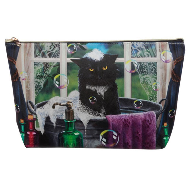 Lisa Parker Bath Time Cat Large PVC Wash Bag