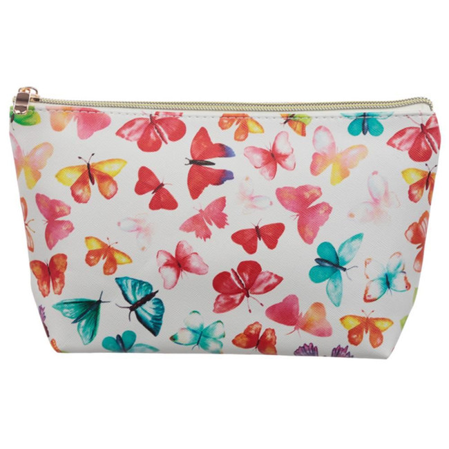 Butterfly Medium PVC Wash Bag