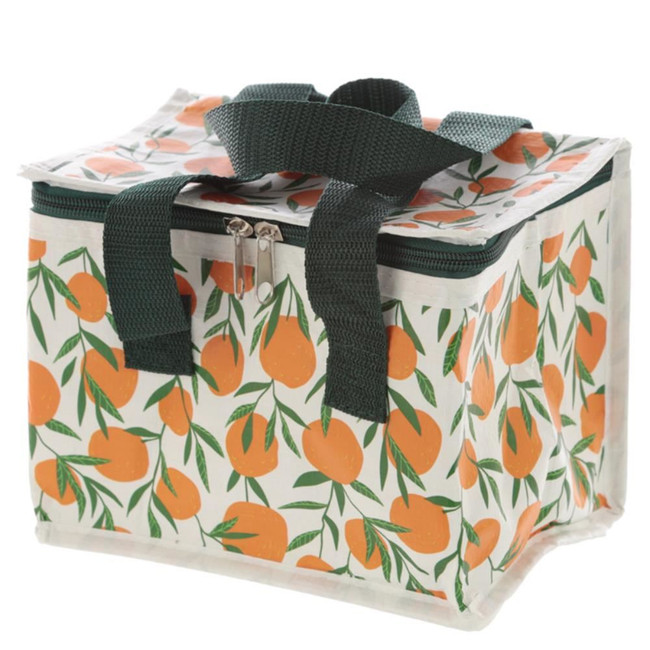 Woven Cool Bag Lunch Box - Oranges