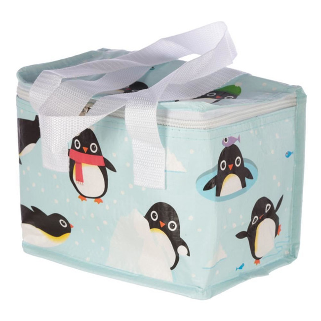 Woven Cool Bag Lunch Box - Huddle Penguins