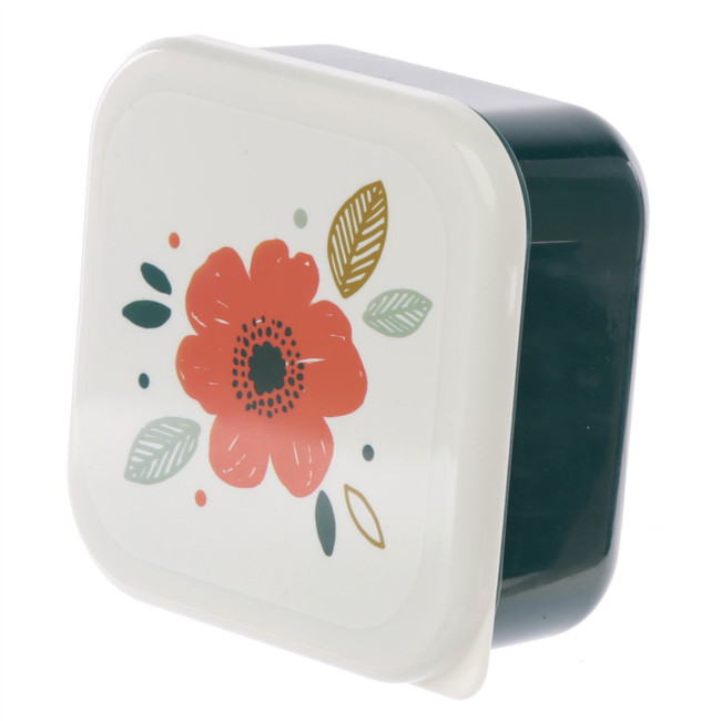 Set of 3 Lunch Boxes M/L/XL - Poppy Fields