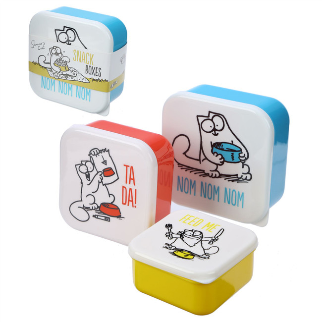 Set of 3 Lunch Boxes - Simon's Cat
