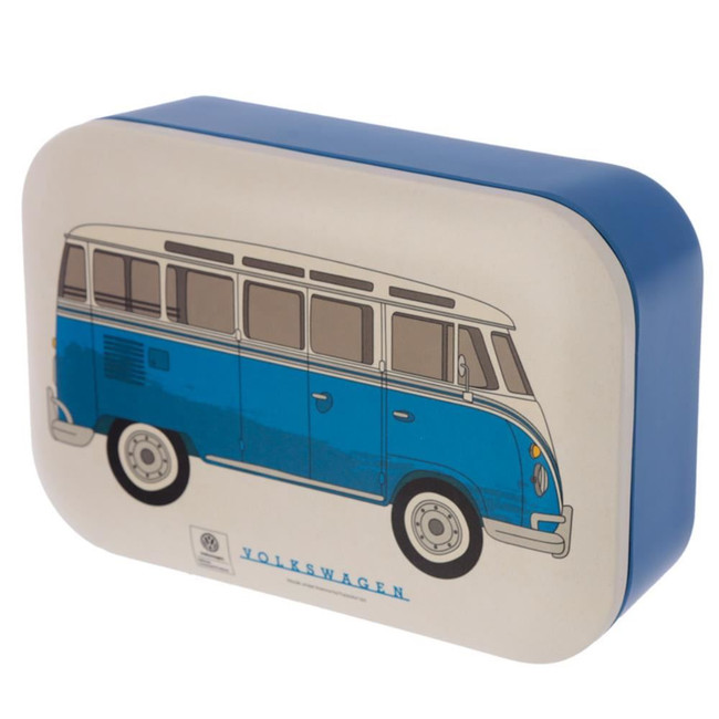 Bamboo Composite Volkswagen VW T1 Camper Bus Blue Reusable Lunch Box