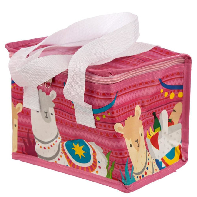 Woven Cool Bag Lunch Box - Llamapalooza