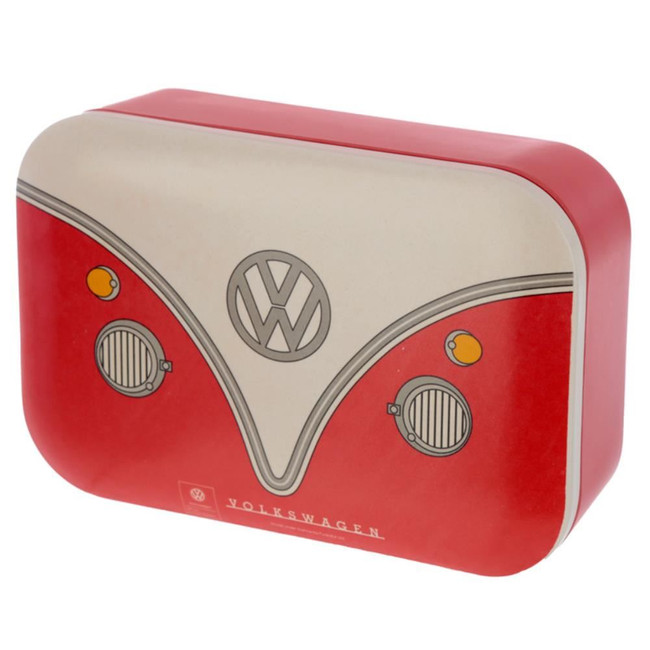 Bamboo Composite Volkswagen VW T1 Camper Bus Red Reusable Lunch Box