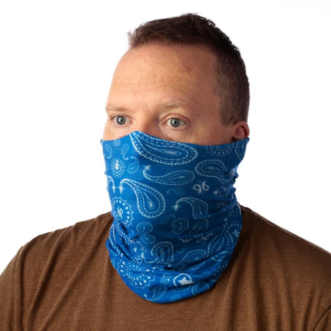 Blue Patterned Bandana