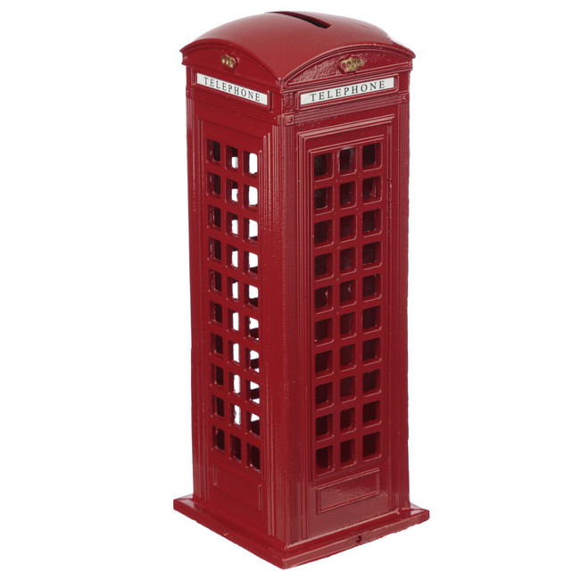 Red Telephone Box Diecast London Souvenir Large Money Box