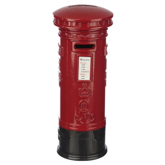 Red Post Box Diecast London Souvenir Large Money Box