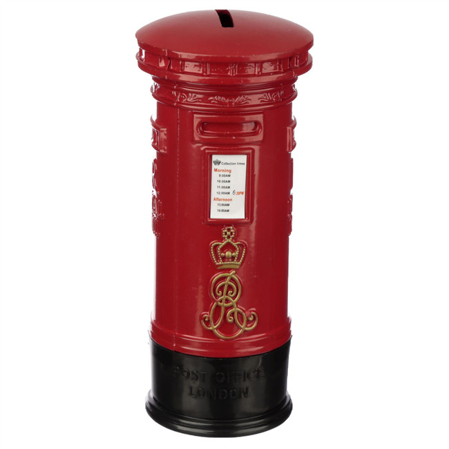 Red Post Box Diecast London Souvenir Money Box