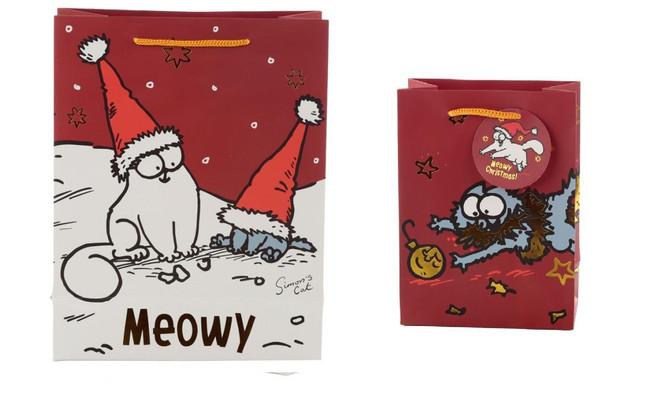 Christmas Simon's Cat Gift Bags, Set of 2, Large & Medium