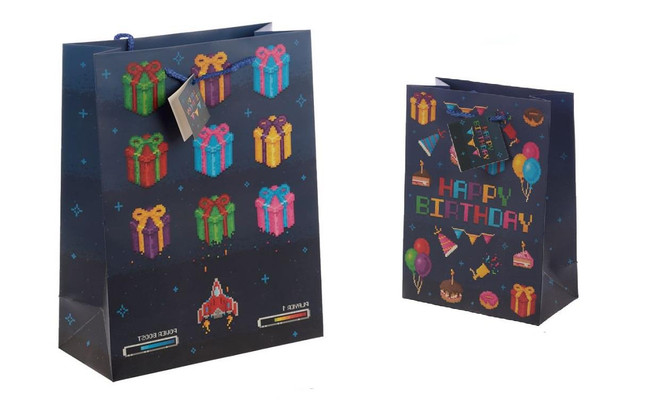 Game Over Gift Bags, Set of 2, Large & Medium