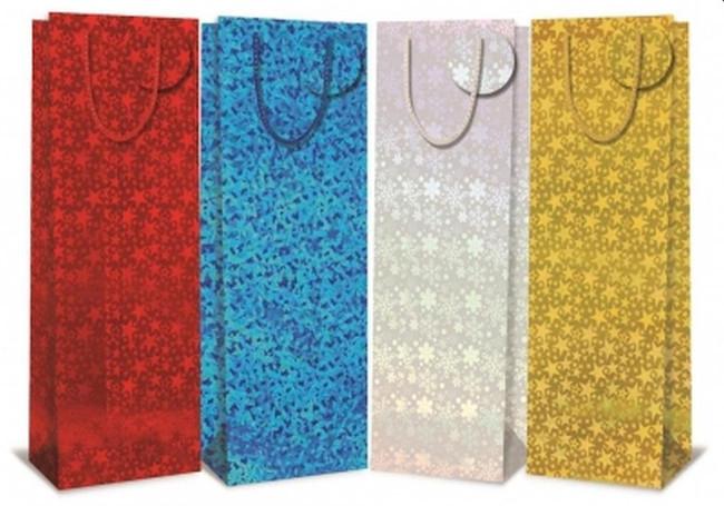 Holographic Gift Bag - Bottle Bag, 1 per sale, Stocking Filler/Gift