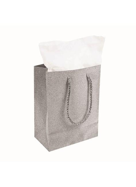 Diamond Gift Bag Silver (22x17x10cm)