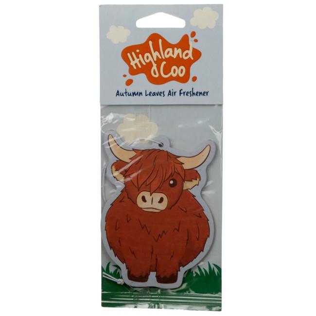 Autumn Leaves Highland Coo Cow Air freshener