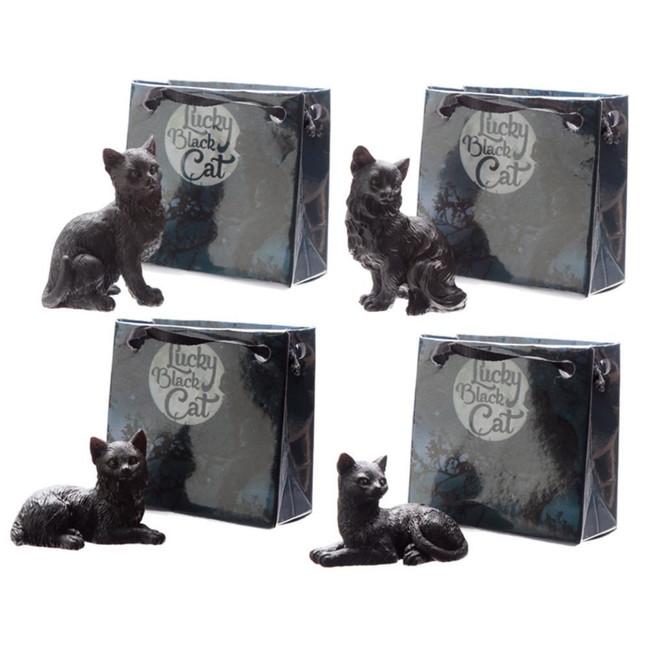 Lucky Black Cat in Mini Gift Bag