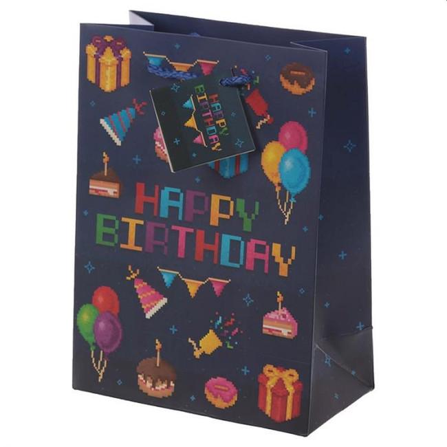 Game Over Happy Birthday Gift Bag - Medium