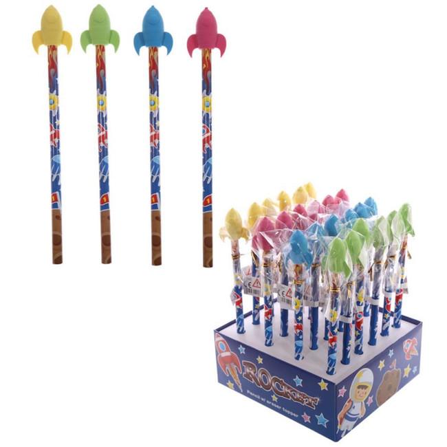 Fun Rocket Pencil with Eraser Top