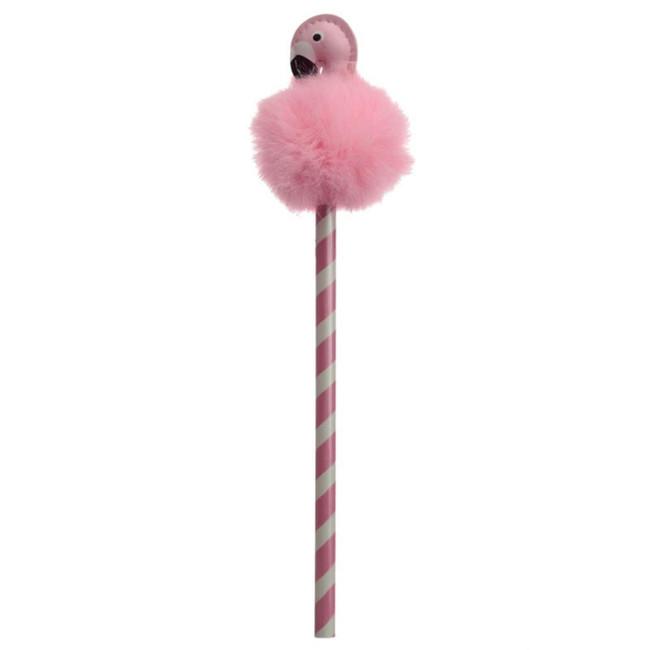Flamingo Pom Pom Pencil