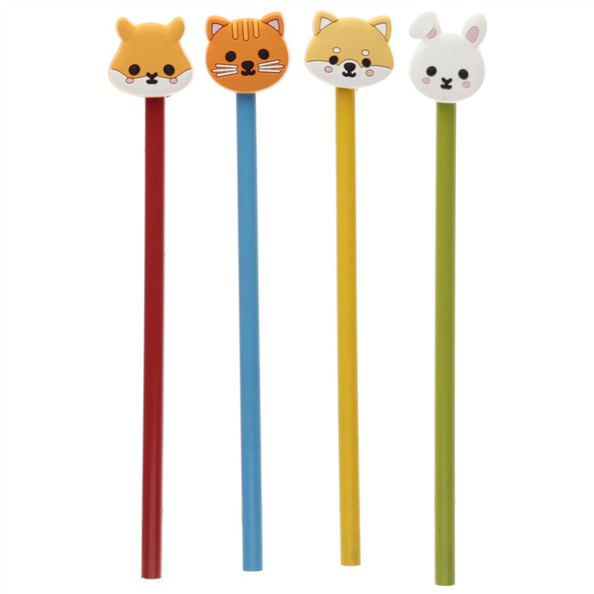 Cutiemals Animal Pencil with PVC Topper